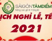 lịch nghỉ 2021