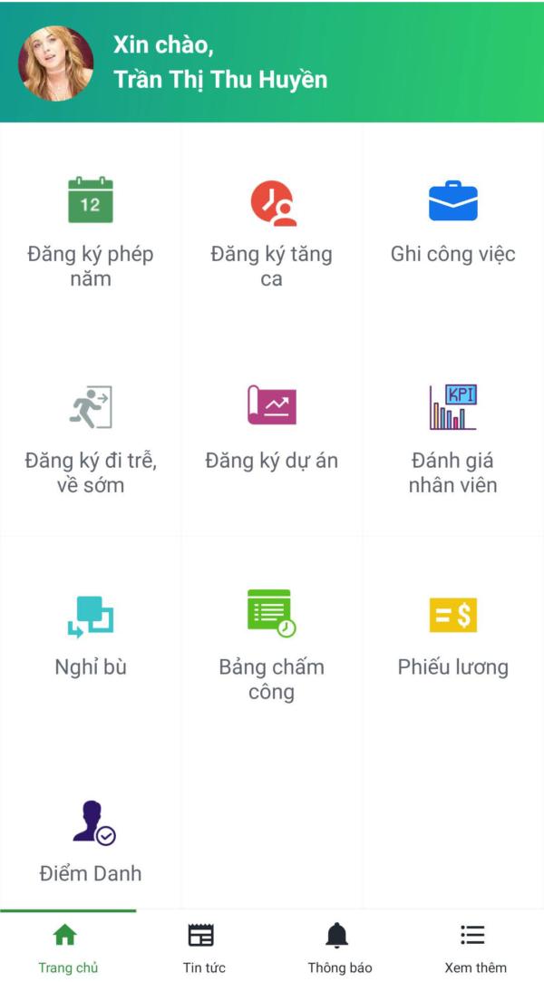 App chấm công và App quản lý nhân sự 9